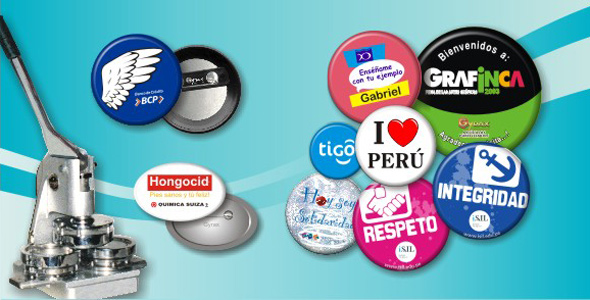 Pines Badges - Artículos Publicitarios Perú
