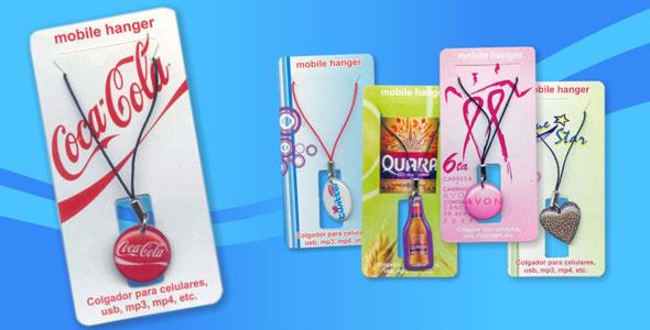 colgantes para celular - artículos publicitarios Perú