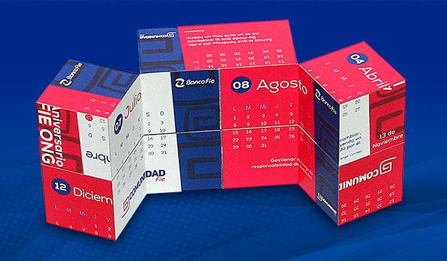 Foto Cubo Calendario - Merchandising de Fin de Año