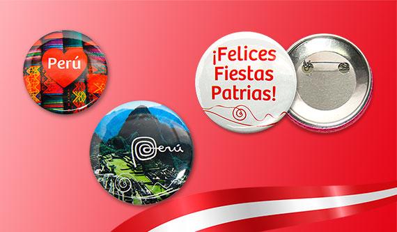Articulos Publicitarios Fiestas Patrias Peru - Pines