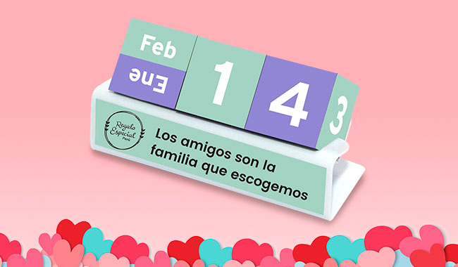 Calendario - Regalos Dia del Amor y la Amistad - Dia de los Enamorados
