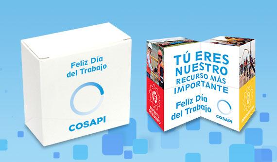 Merchandising Día del Trabajador - Cubo Small